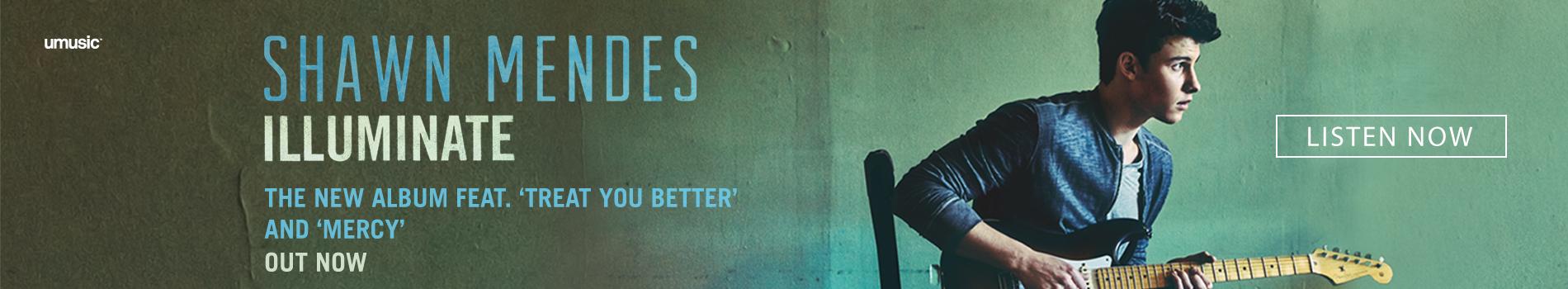 Masthead Banner - Shawn Mendes - September 2016