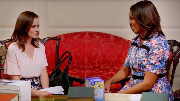 Watch rory gilmore and michelle obama talk about reading coup de