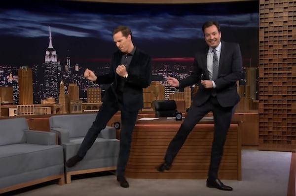 watch benedict cumberbatch and jimmy fallon dance to