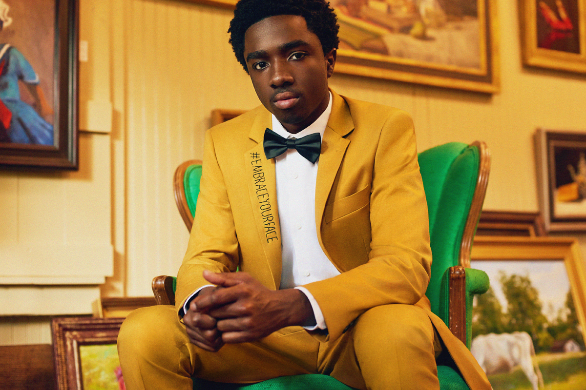 Image result for man in yellow suit for an interview