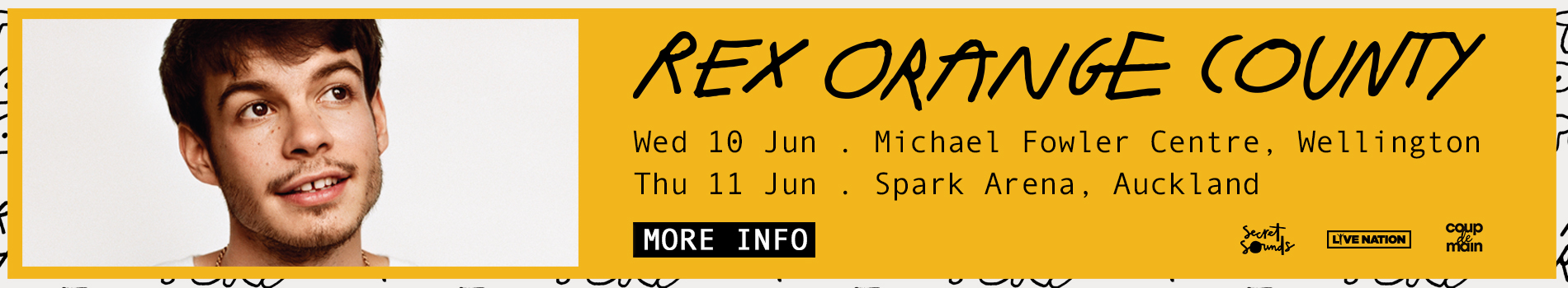 Rex Orange County Tour - Masthead Banner