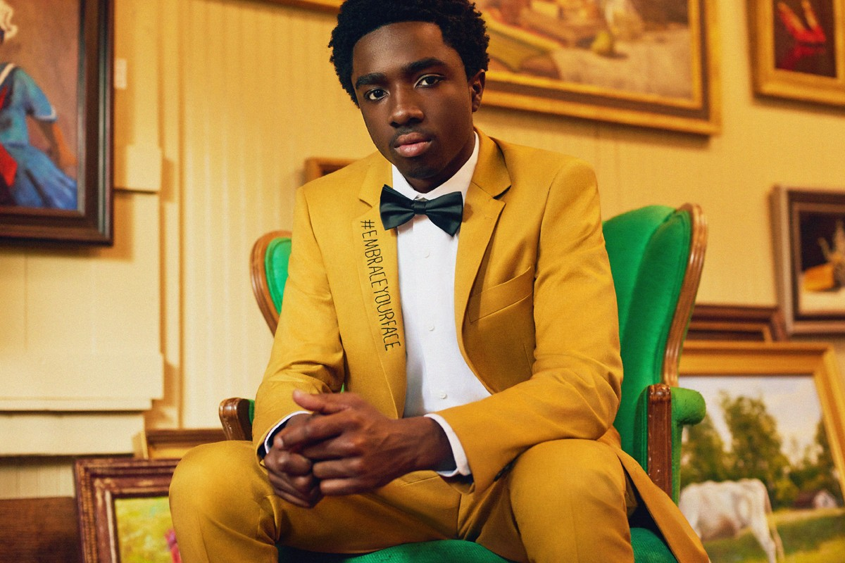 Interview: Caleb McLaughlin on 'Stranger Things' and embracing your face.