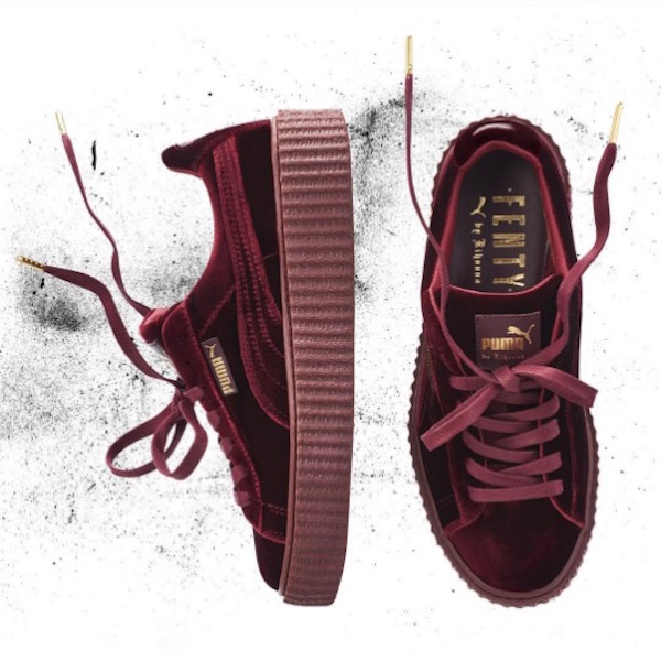 buy popular ad126 a5b20 Rihanna announces new Fenty X Puma velvet creepers. | Coup ...