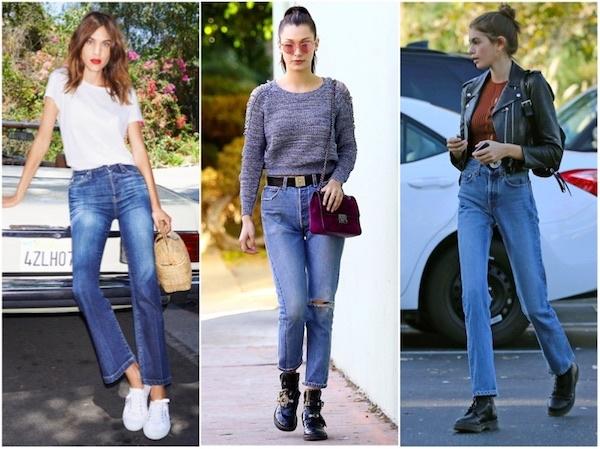 How to wear jeans like Alexa Chung, Kaia Gerber, Bella Hadid